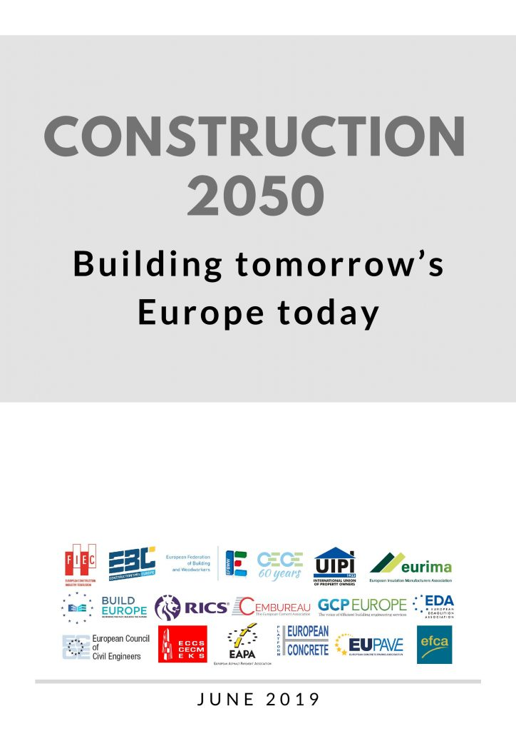 Construction 2050, Building tomorrow's Europe today - cover